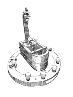 Dessin du Galvanomètre de Deprez-d'Arsonval